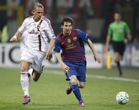 Messi Maxes Hasil Pertandingan Ac Milan Vs Barcelona