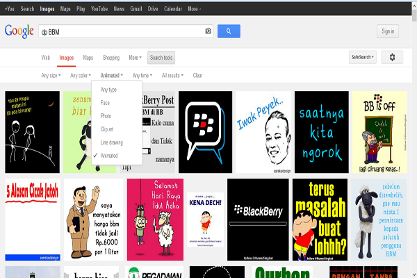 Cara Mencari Gambar Animasi GIF di Google Images